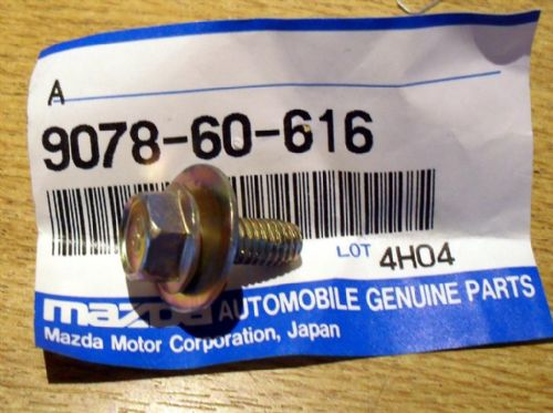 Bolt & washer, M6, Mazda MX-5 mk1, 16mm, 907860616